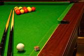Pool billiards table — Stock Photo