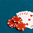 Stock Photo: Straight flush poker