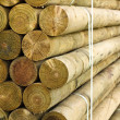 Pallet of fencing posts - Stock Photo