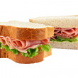 Ham salad sandwich sliced bread — Stock Photo #15367233