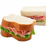 Ham salad sandwich sliced bread — Stock Photo #15367623