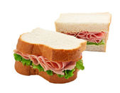 Ham salad sandwich sliced bread — Stock Photo