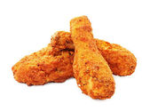 Southern fried chicken isolated — Stock Photo