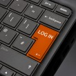 Stock Photo: Log in Return Key