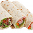 Buffet of sandwich wrap — Stock Photo