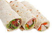 Buffet of sandwich wrap — Stock Photo