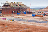 New housing estate construction site — Stock Photo