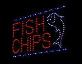 鱼和芯片发光二极管符号 — 图库照片