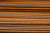 Reinforcing steel bars or rebar background — Stock Photo