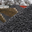 Coal yard storage — Stock Photo