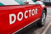 Araba doktorlara çağrısı — Stok fotoğraf
