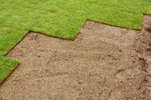 Partially layed Turf — Stock Photo