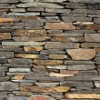 Stock Photo: New build flush dry stone wall