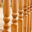 Row of carved Balustrades - Stock Photo
