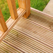 Garden Decking corner - Stock Photo