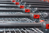 Supermarket shopping carts — Stock Photo