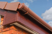 Roofline PVCU Soffit fascia board — Stock Photo