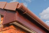 Roofline PVCU Soffit fascia board — Stock Photo