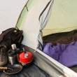 Dome tent camping interior — Stock Photo #22258241