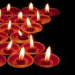 Stock Photo: Red tea lights