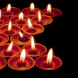 Red tea lights — Stock fotografie