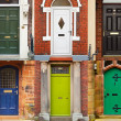 House front doors — Stock Photo