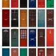 Stock Photo: Isolated front doors