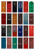 Isolated front doors — Stock Photo