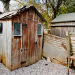 Old run down worn out rotting garden shed — Stock Photo #24718899