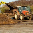 Topping up with manure — Stock Photo