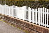 White Picket Fence — Stock Photo