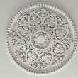 Plaster Ceiling Rose or plate — Stock Photo