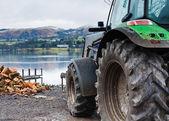 湖水地方の農場のシーン — ストック写真
