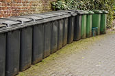 Line of residential wheelie bins — Stock Photo