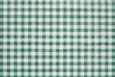 Green Gingham tablecoth background — Stock Photo