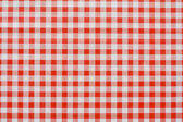 Red Gingham tablecoth background — Stock Photo