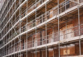 Scaffold on old building — Stock Photo