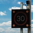 Traffic Calming speed sign — Stock Photo