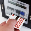 Electrical card meter — Stock Photo