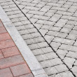 Stock Photo: Brick pavement and drive