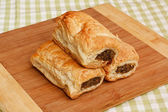 Sausage roll kitchen setting — Stock Photo