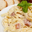 Pasta spaghetti carbonara — Stock Photo