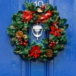 Festive Christmas wreath — Stock Photo