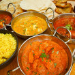 Indian cuisine buffet — Stock Photo