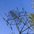 Stock Photo: Electricity transmission tower