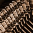 Traditional typewriter letterpress arms — 图库照片