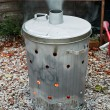 Stock Photo: Garden waste incinerator bin