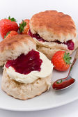 Devonshire Cream Tea — Stock Photo