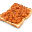 Stock Photo: Beans on Toast