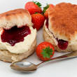 Stock Photo: Devonshire Cream Tea